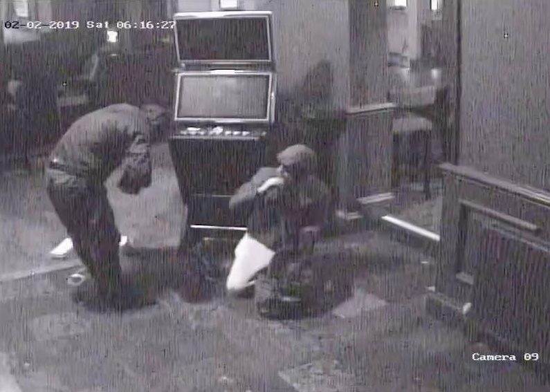 CCTV FOOTAGE: The burglars during the raid at The Lambton Arms in Chester-le-Street