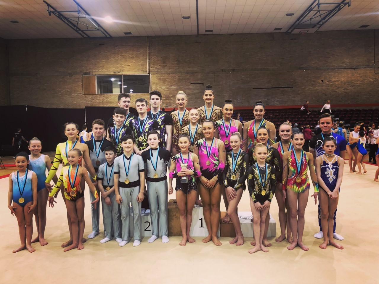 MEDAL WINNERS: Some of Deerness Gymnastic Club's acrobats, who helped the club win the North of England team title