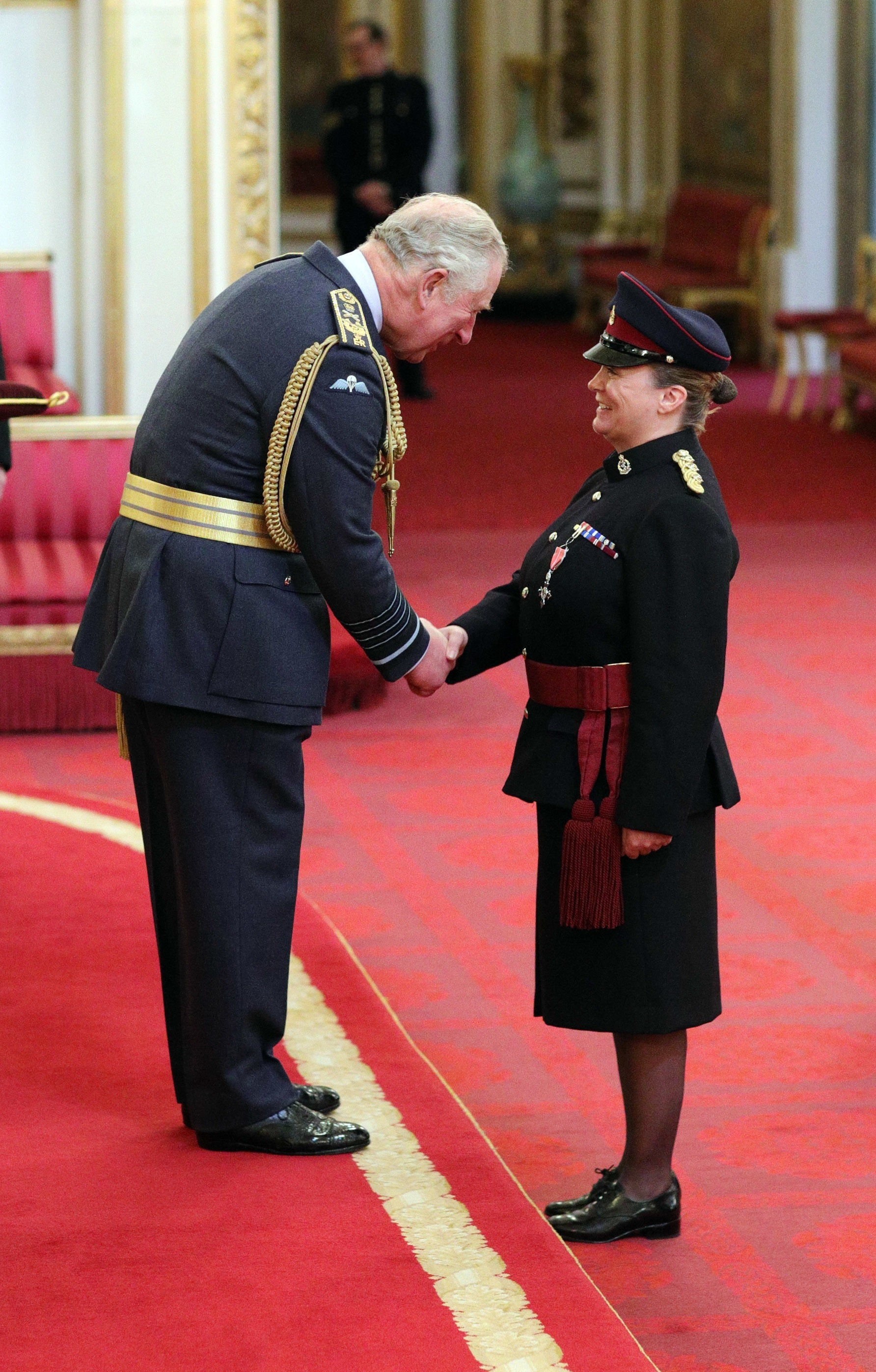 ARMY HONOUR: Melonie Adair visited Buckingham Palace to receive her MBE