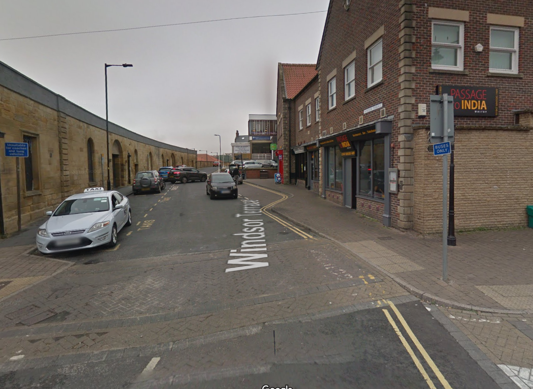 A man has been arrested following a serious assault at a takeaway on Windsor Terrace in Whitby Picture: GOOGLE