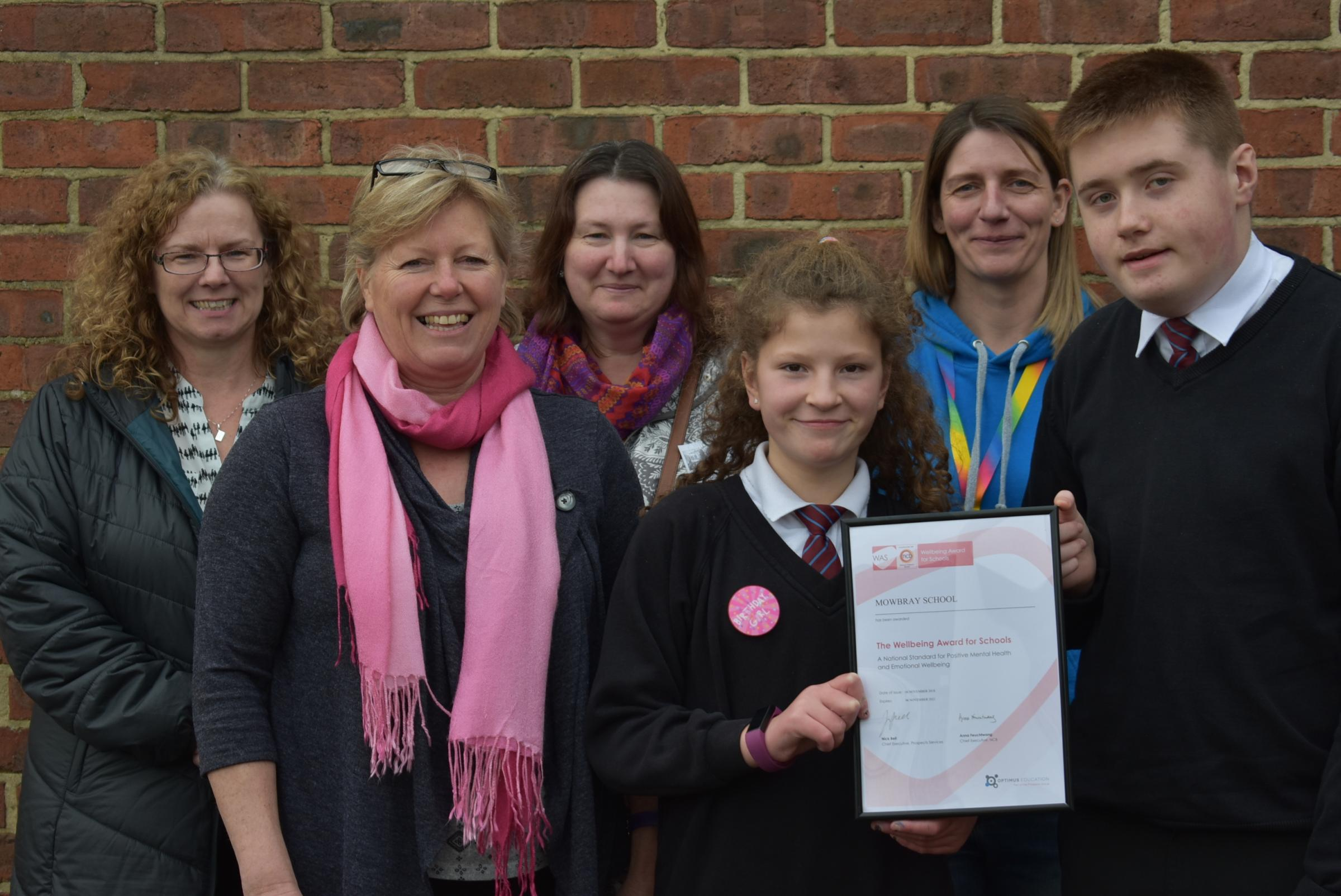 SPECIAL: Mowbray School is presented with the Wellbeing award