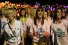 GIRL POWER: Women take part in the St Cuthbert's Hospice Midnight Walk, on Saturday