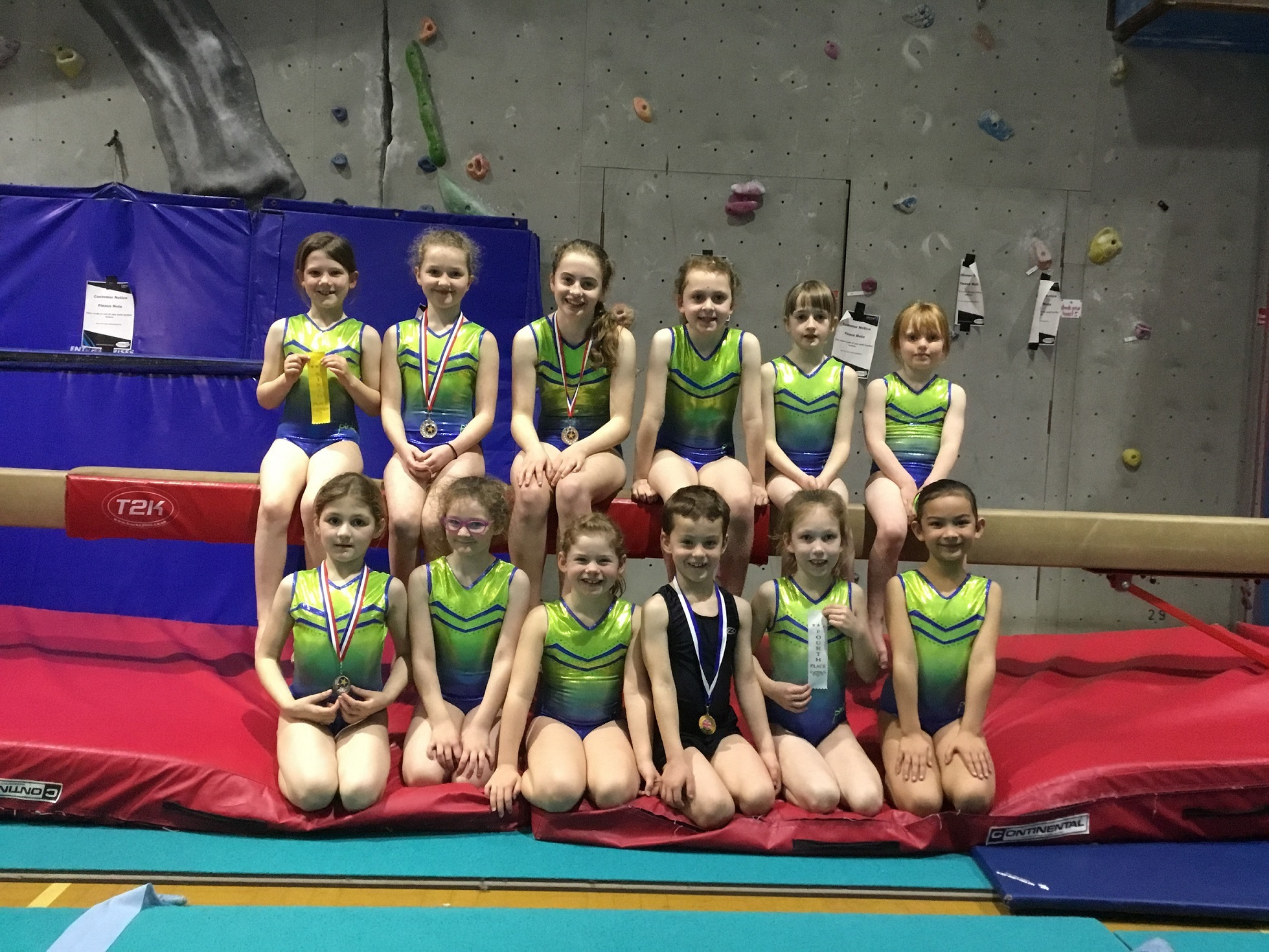 GYMNASTICS SUCCESS: Barnard Castle Gymnastics Club members have had success in their first competition