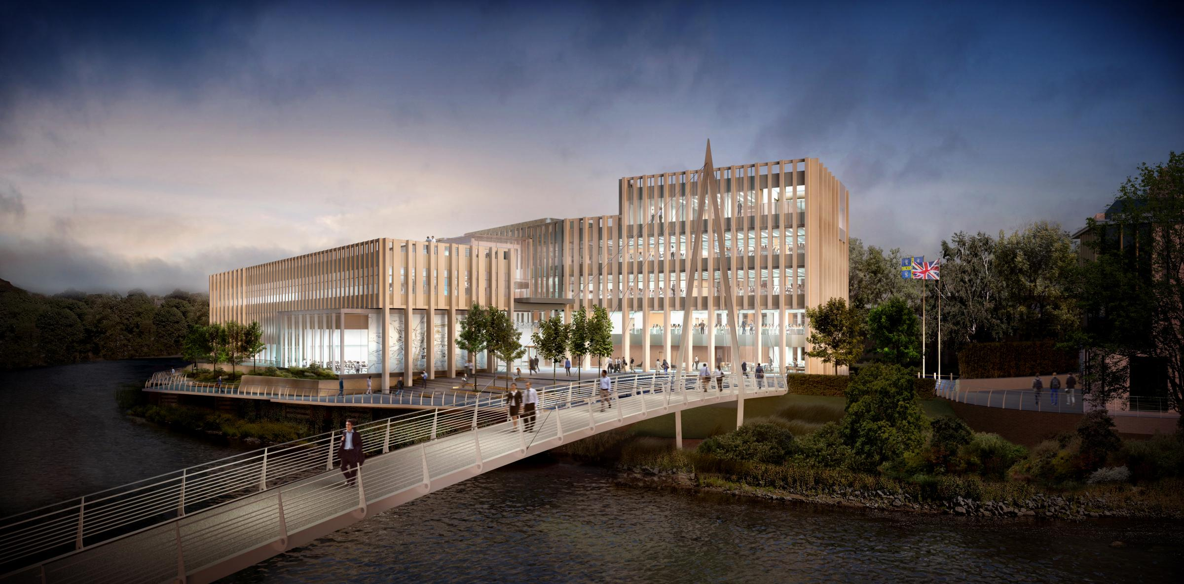 The designs for Durham County Council's new headquarters on the Sands car park, Durham