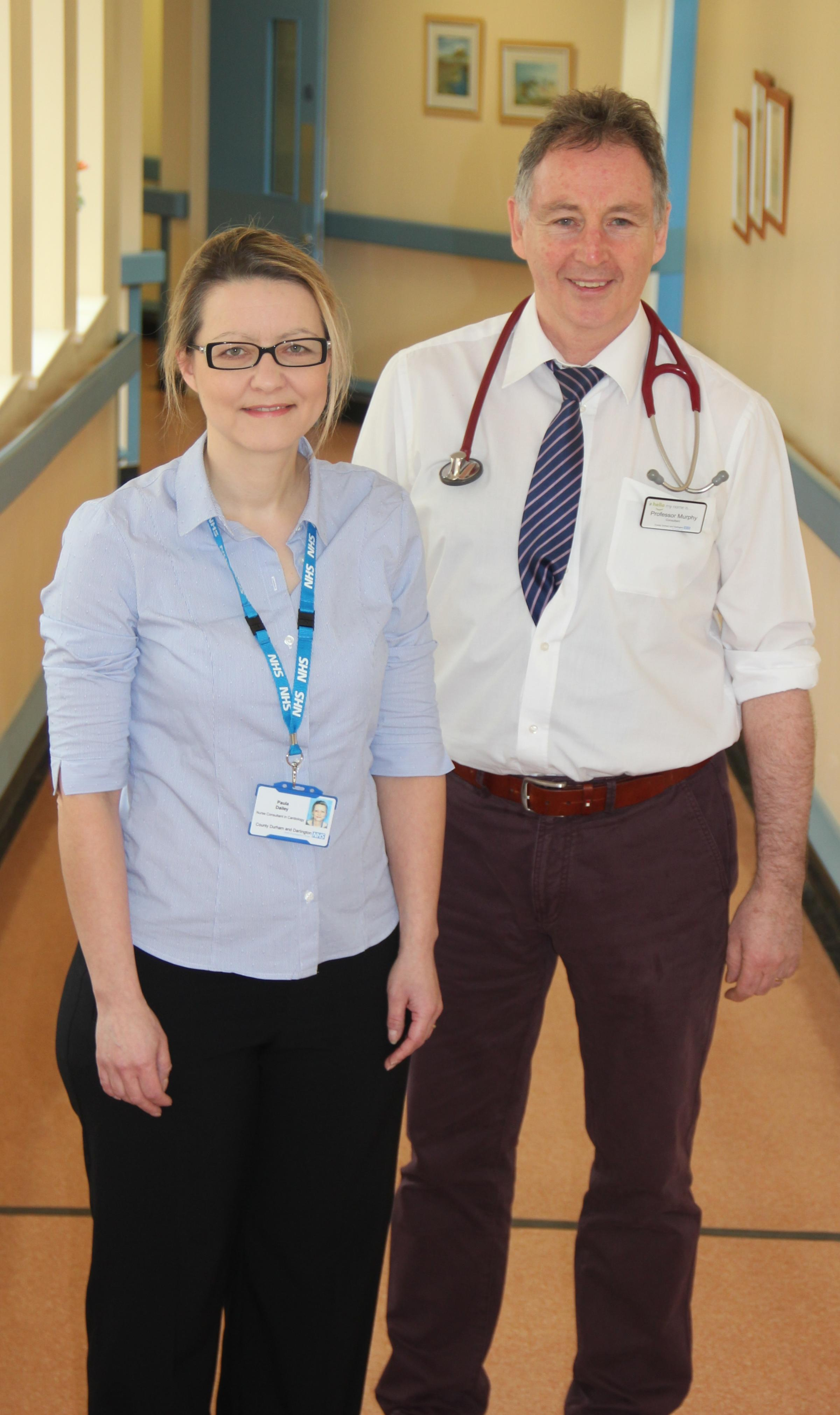 HEART SPECIALIST: Paula Dailey, heart failure nurse consultant, Professor Jerry Murphy, consultant cardiologist