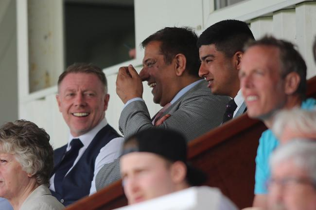 Raj Singh with Craig Hignett      Picture: Tom Banks.