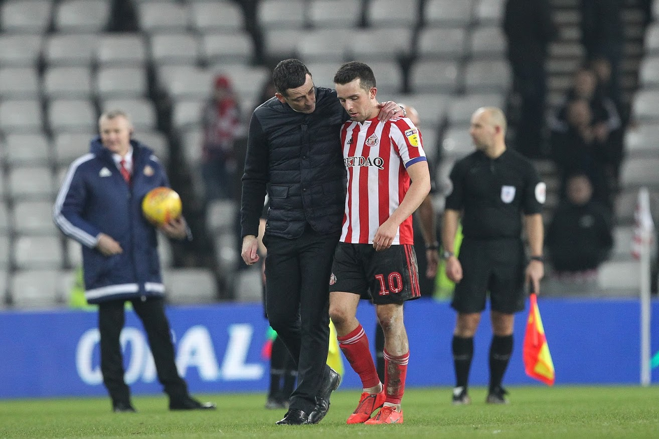 Sunderland manager Jack Ross with George Honeyman. Picture: MI News and Sport