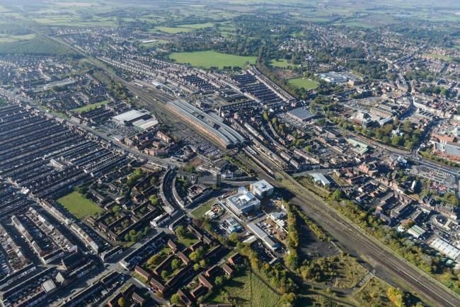 HERITAGE: An aerial view showing Darlington at its finest. But what are the town's worst views?