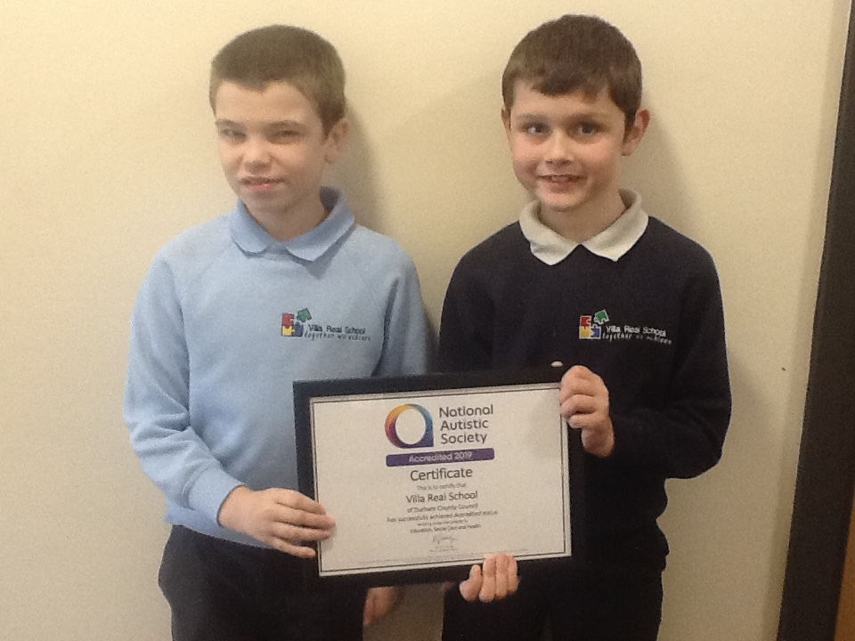 AUTISM AWARD: Villa Real School, in Consett, has been recognised for its work with autistic children