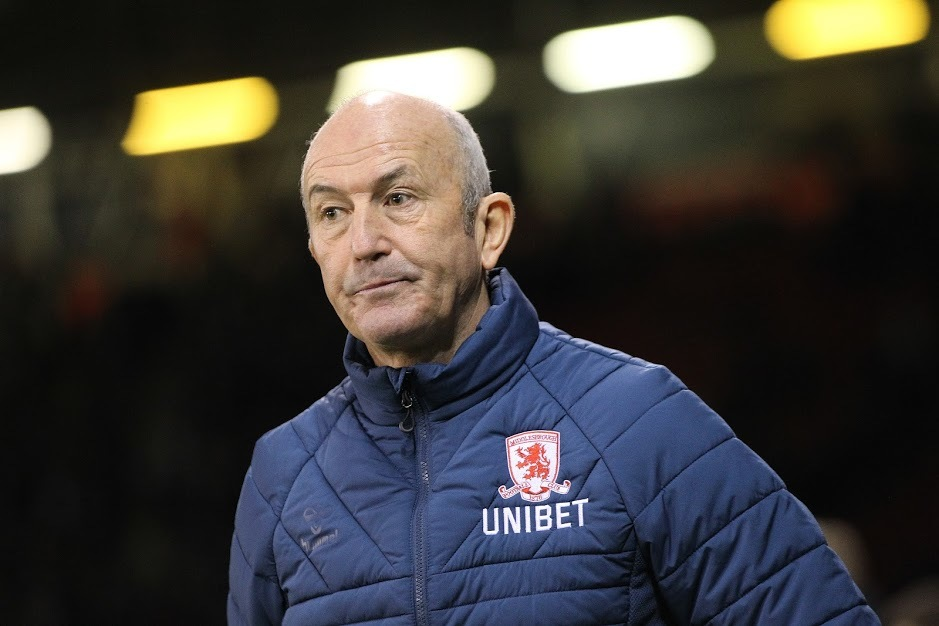 SHEFFIELD, UK 13TH FEBRUARY  Tony Pulis the Middlesbrough manager during the Sky Bet Championship match between Sheffield United and Middlesbrough at Bramall Lane, Sheffield on Wednesday 13th February 2019. (Credit: Mark Fletcher | MI News).