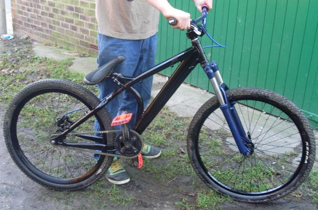 The bike, which was stolen from outside Darlington College on June 10
