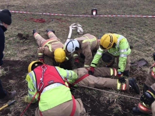 DRAMATIC RESCUE: Fire crews saving the foal