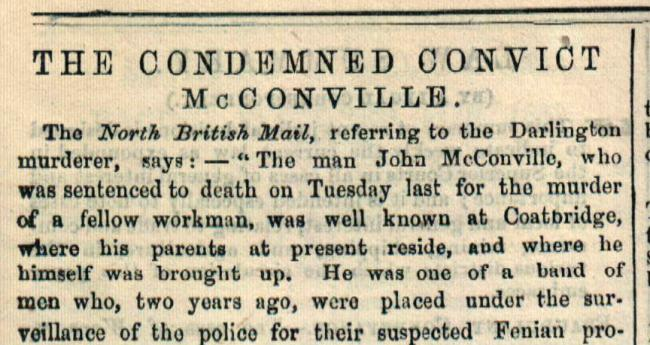 NOT SO GENTLE: How the D&S Times reported John McConville's previous 150 years ago this week