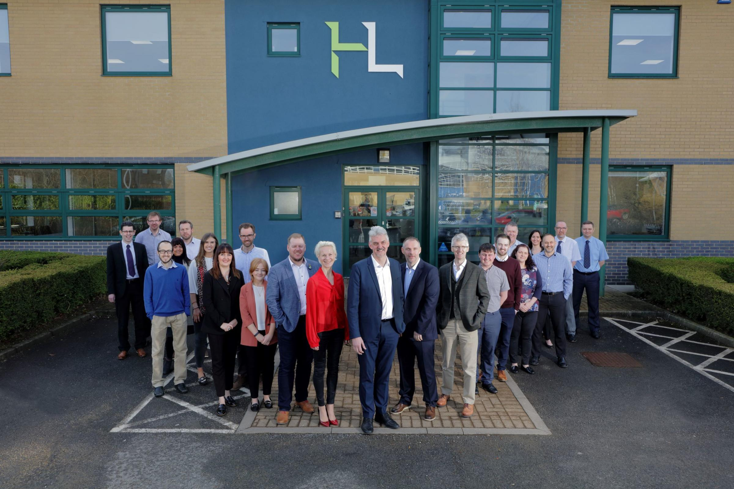 NEW SPACE: The Howarth Litchfield team outside their new HQ