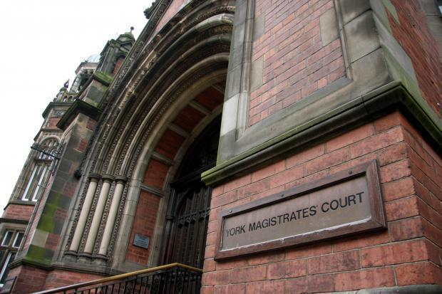 A man found curled up naked in his ex-girlfriend's wardrobe has been jailed for eight weeks at York Magistrates' Court
