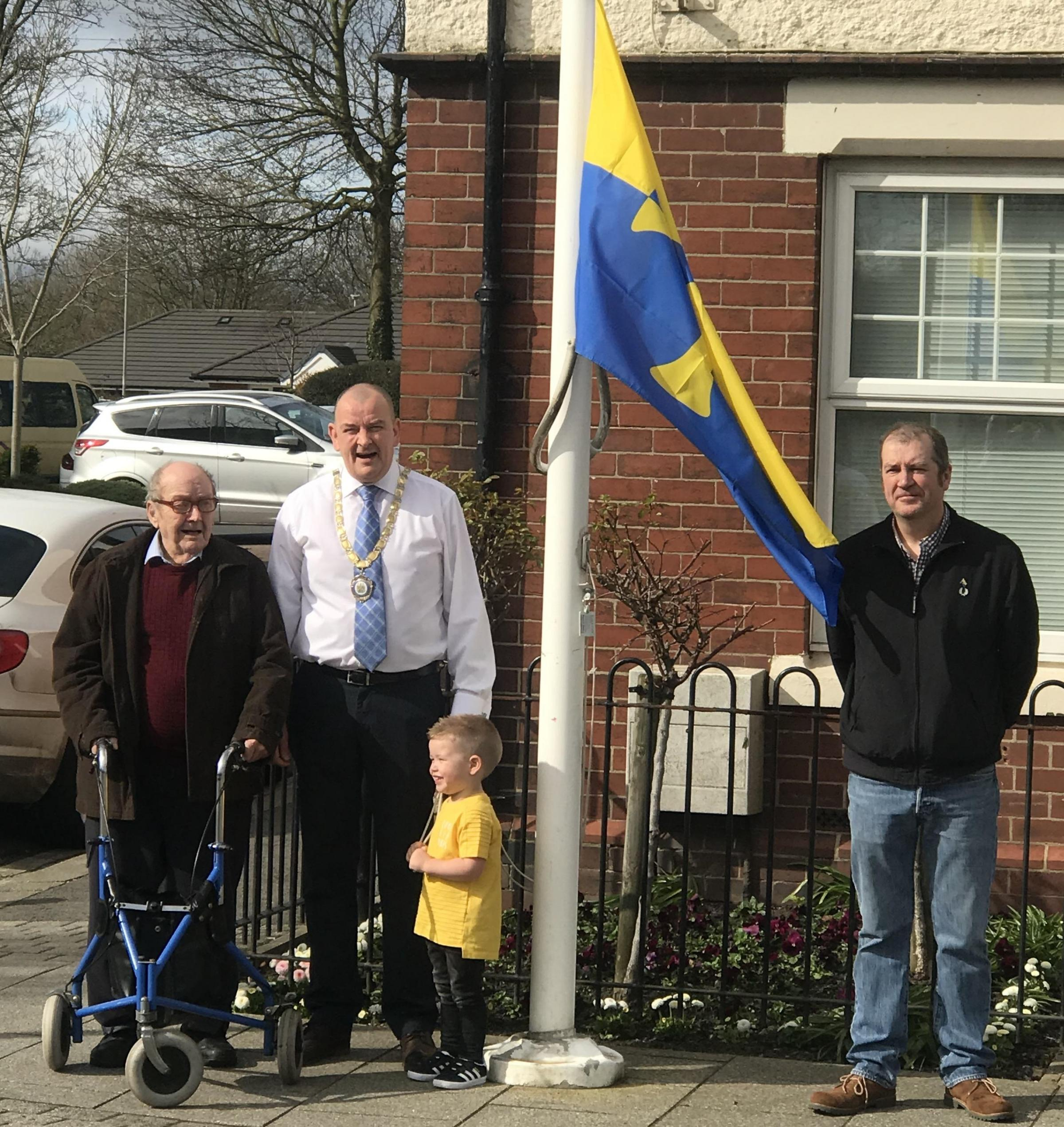EVENT: Raising the Flag of County Durham in Chilton
