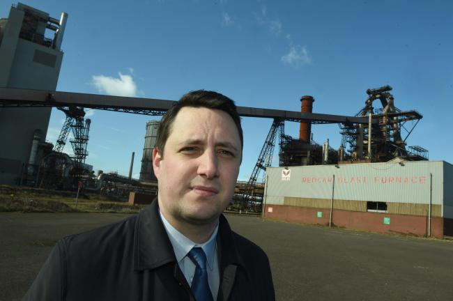 Tees Valley Mayor Ben Houchen at the Redcar blast furnace site in March 2019