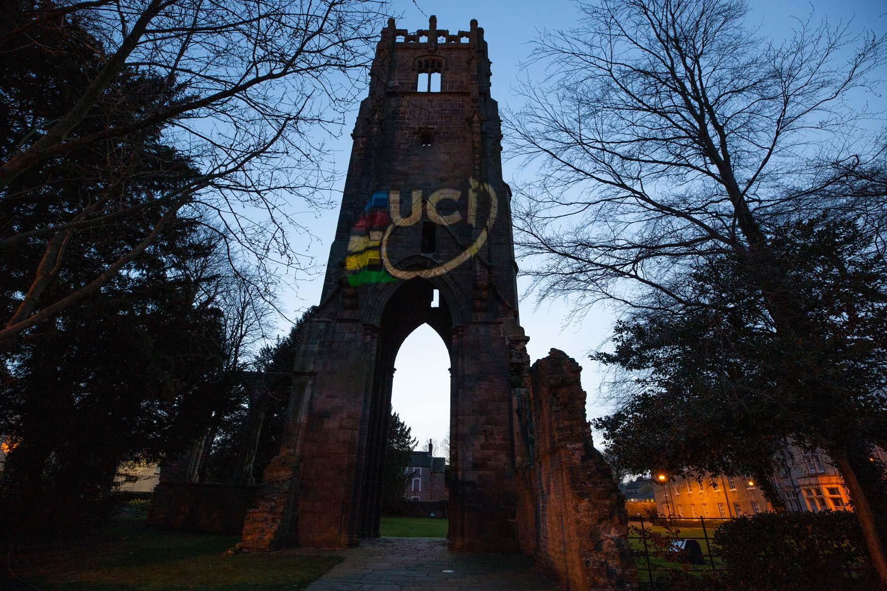 Landmarks lit up to mark six months to go to UCI Road World Championships in Yorkshire