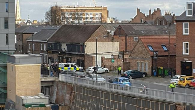 North Yorkshire Police said the cordon is in place in the Micklegate area at the request of the Explosive Ordnance Disposal (EOD)