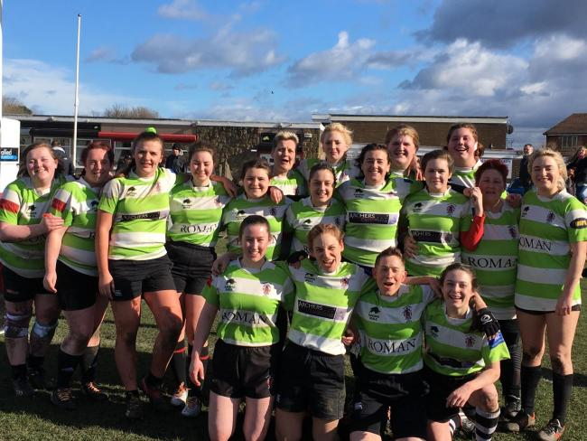 SPORTING ACHIEVEMENTS: The Barnard Caslte Rugby Club ladies team
