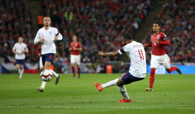 23cd112efc4 HAT-TRICK HERO  Raheem Sterling fires home England s fourth goal in their 5-