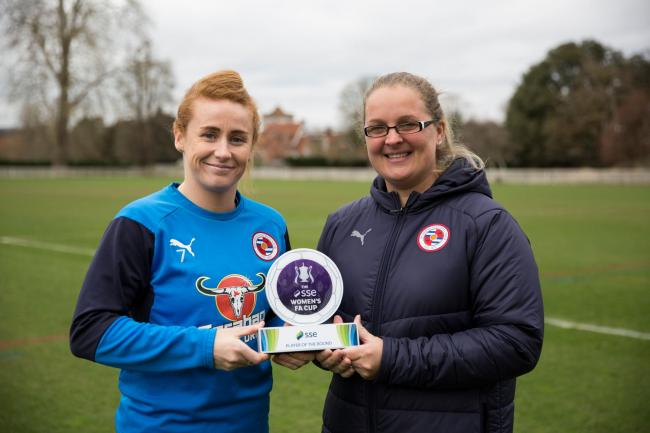 Reading's Rachel Furness won the SSE Women's FA Cup Player of the Round