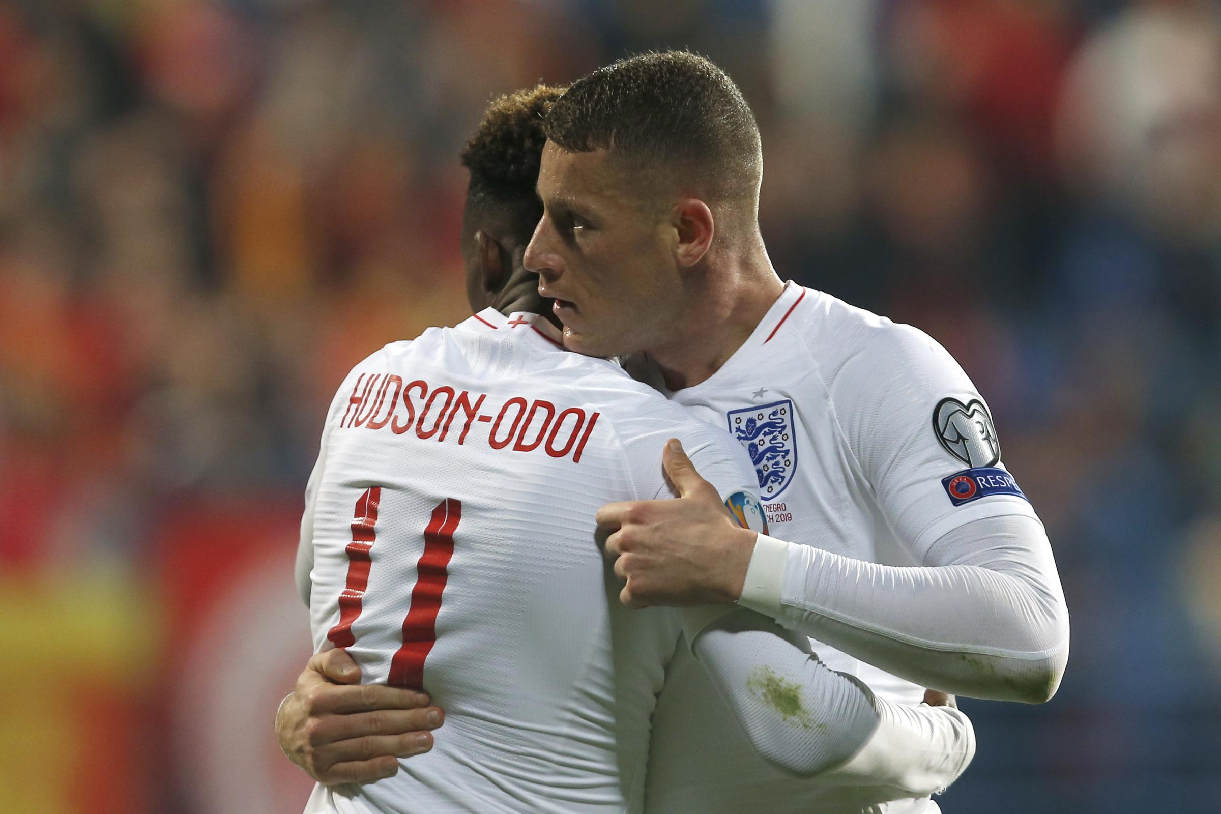 Chelsea duo Ross Barkley and Callum Hudson-Odoi helped England to victory in Podgorica