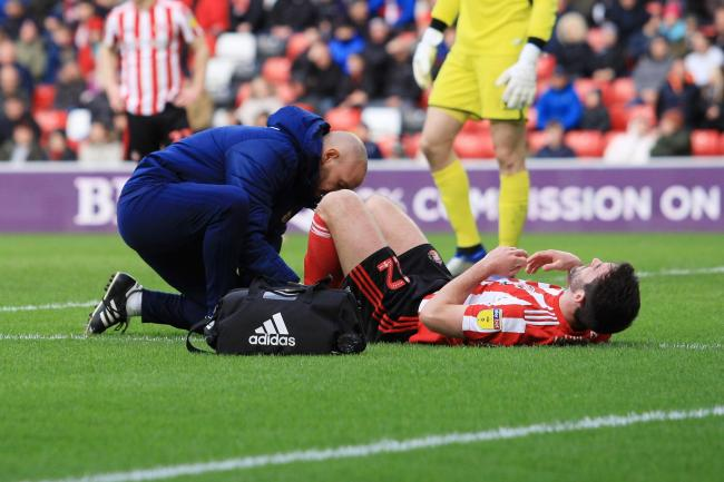 5898734c4 Sunderland s Will Grigg receives treatment during the Sky Bet League 1  match between Sunderland and Walsall