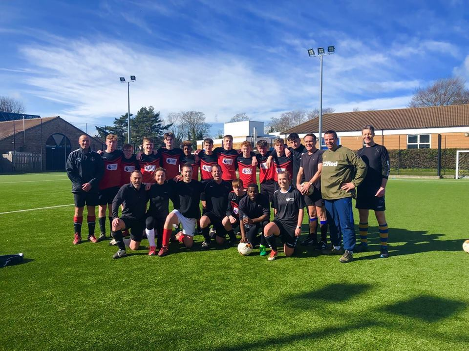 Staff and students at Bedale High School took part in the football match for Comic Relief