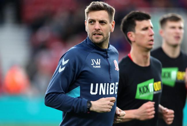 Middlesbrough Coach Jonathan Woodgate during the Sky Bet Championship match at the Riverside Stadium, Middlesbrough. PRESS ASSOCIATION Photo. Picture date: Saturday March 30, 2019. See PA story SOCCER Middlesbrough. Photo credit should read: Richard Selle