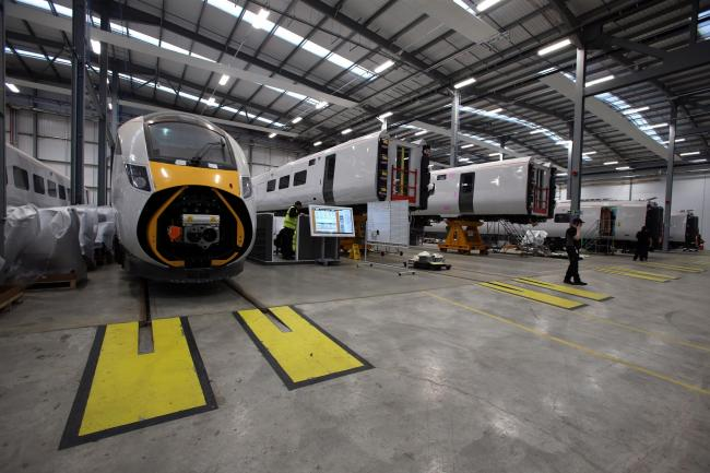 Inside Hitachi's Newton Aycliffe factory Picture: CHRIS BOOTH.