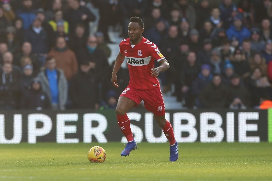 Mikel John Obi of Middlesbrough during the Sky Bet Championship match between West Bromwich Albion and Middlesbrough at The Hawthorns, West Bromwich on Saturday 2nd February 2019. (Credit: Mark Fletcher | MI News & Sport Ltd)©MI News &