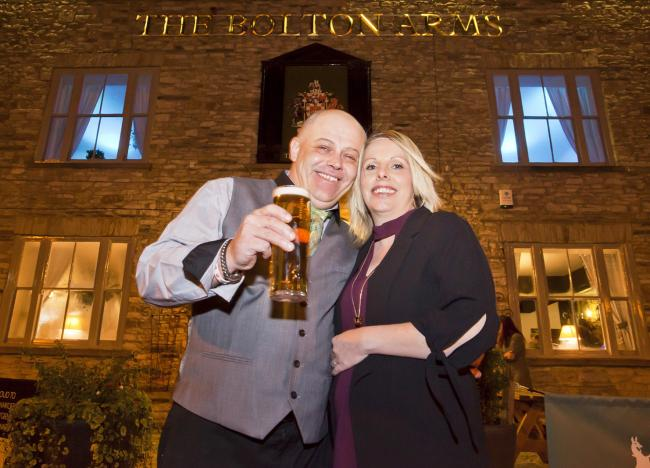 Kris Orme, who ran the Bolton Arms in Leyburn, with his wife, Louise Jones, has died after a short illness