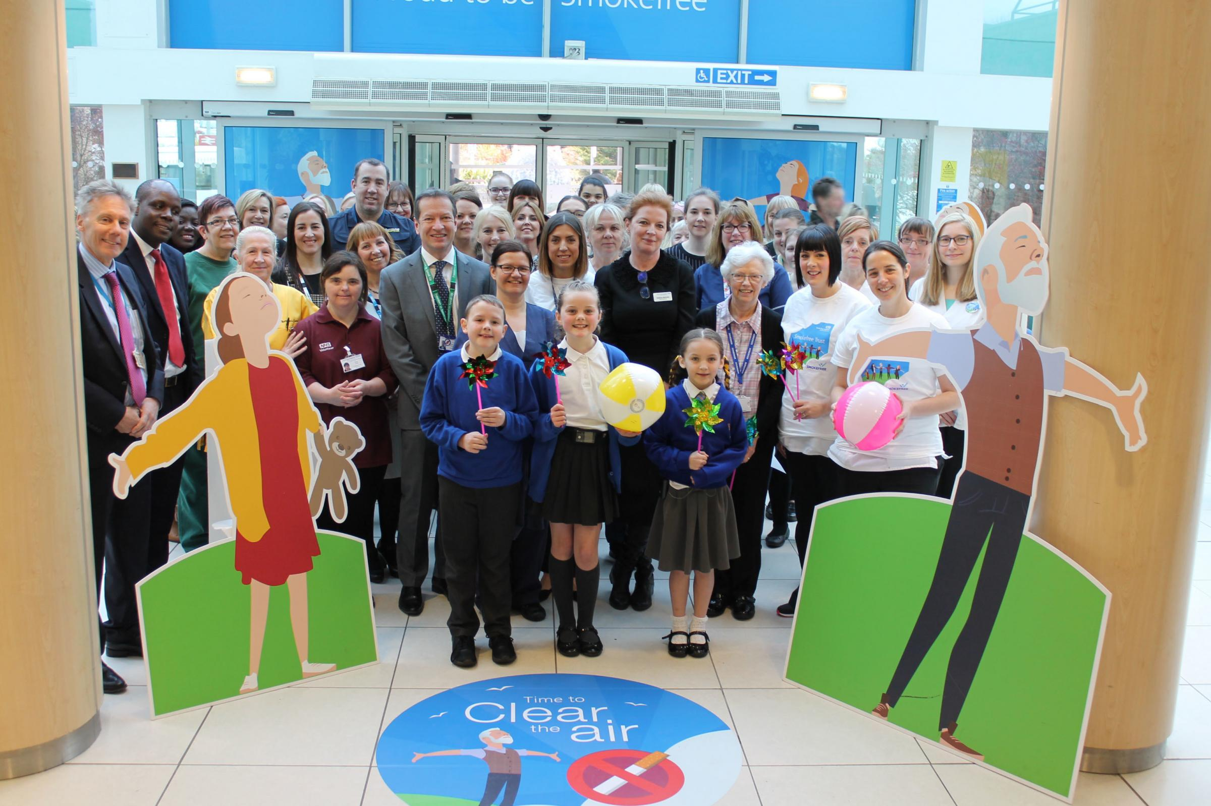 FRESH APPROACH: Smokefree launch at Middlesbrough's James Cook University Hospital