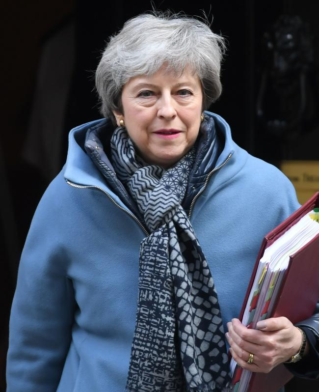 Prime Minister Theresa May leaves 10 Downing Street, London, for the House of commons to face Prime Minister's Questions. PRESS ASSOCIATION Photo. Picture date: Wednesday April 3, 2019.  Photo credit should read: Stefan Rousseau/PA Wire.