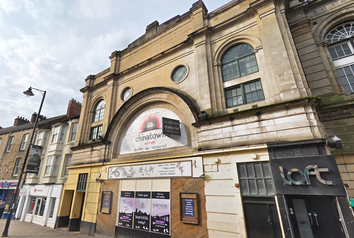 A licence has been granted for the former cinema in North Road Durham, more recently used a Chinese buffet