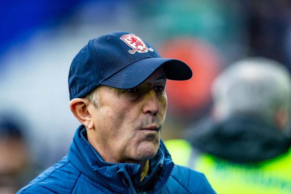 Middlesbrough manager Tony Pulis has challenged his players to keep fans onside when they face Hull City. Picture: Alan Hayward | MI News & Sport Ltd