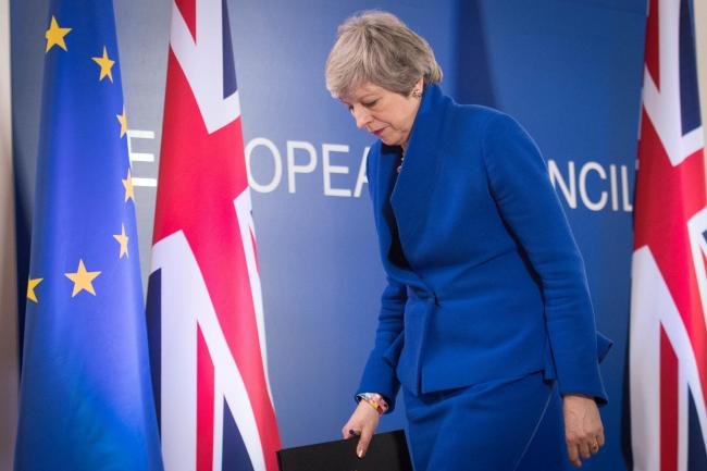 Prime Minister Theresa May holds a news conference after the European Council in Brussels where European Union leaders met to discuss Brexit. Picture: Stefan Rousseau / PA Wire