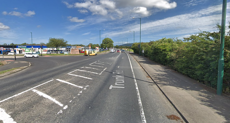 FATAL COLLISION: The incident happened on Trunk Road Picture: GOOGLE