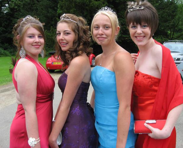 Youngsters at their prom last night