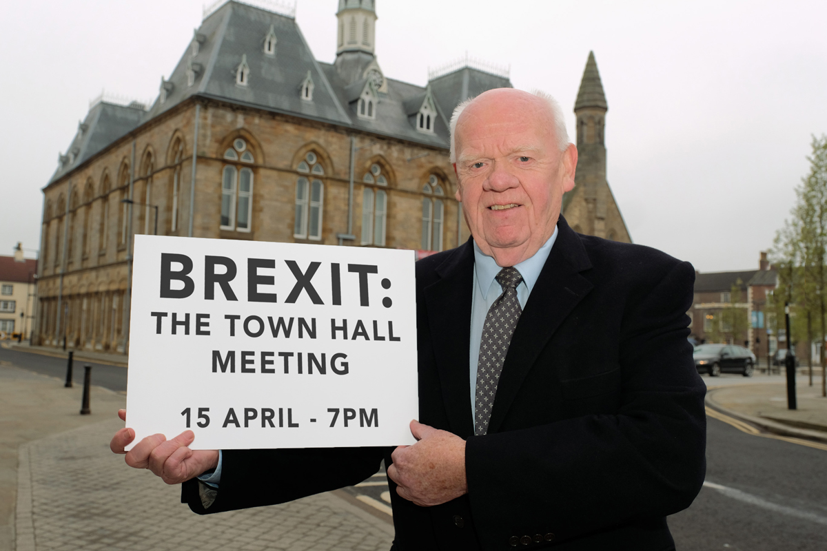 John Elliott, chairman of Ebac, who has organised 'Brexit: The Town Hall Meeting'