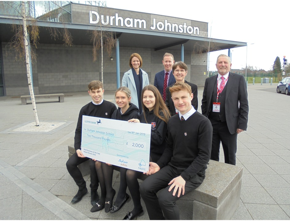 SCIENCE PROJECT: Durham Johnston School was given £2,000 by Reprotec