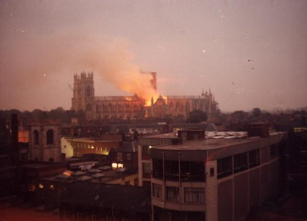 Image result for york minster fire