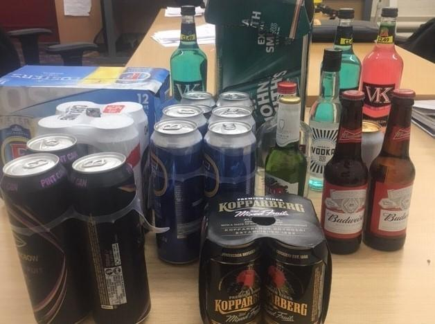Operation Staysafe - confiscated alcohol