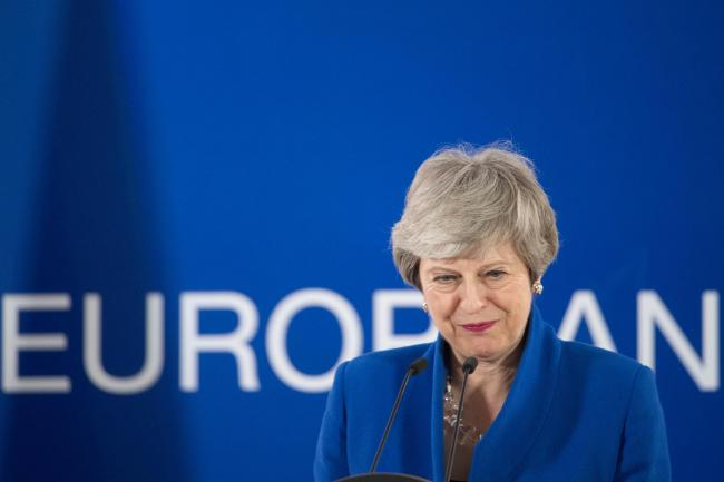 Prime Minister Theresa May holds a news conference after the European Council in Brussels where European Union leaders met to discuss Brexit. Picture: Stefan Rousseau/PA Wire