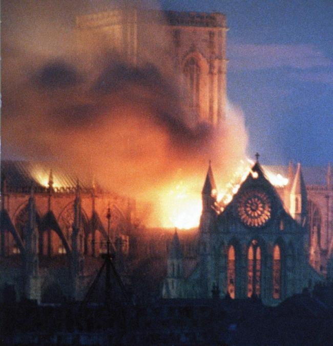 YORK: The fire 35 years ago destroyed large parts of the Minster