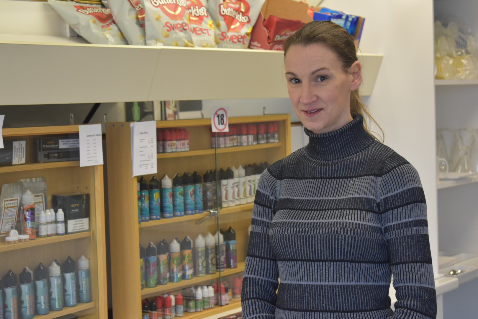 Rebecca Allan, from Witton Gilbert, has opened a cafe in Gilesgate, Durham, which sells CBD products