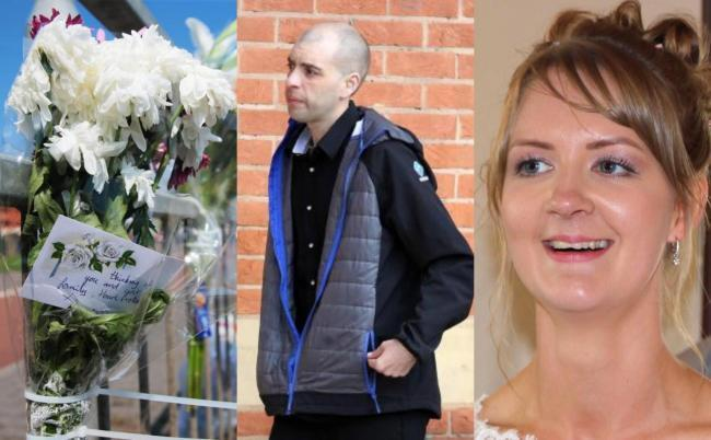 TRAGEDY: Left, flowers left at the scene, centre, Stuart Levy and right, Shantelle Kirkup