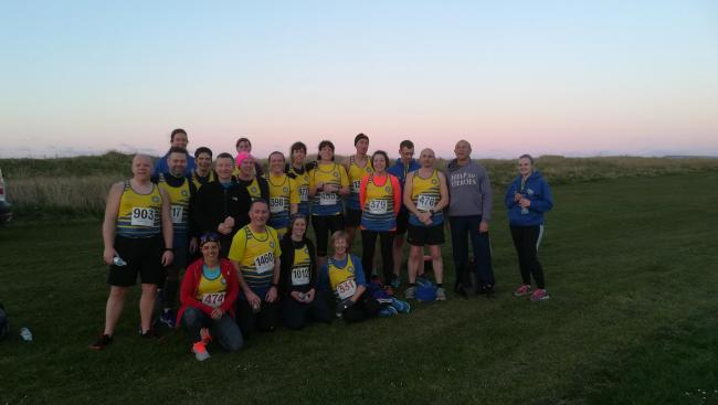 Some of the members at the Spring Coast Road 5k at Redcar last week Picture: ROB BURN