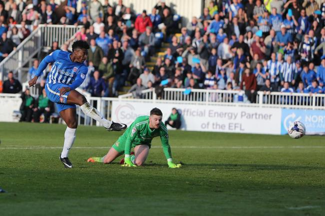 Devante Rodney faces Pools tonight  Picture: TOM BANKS.